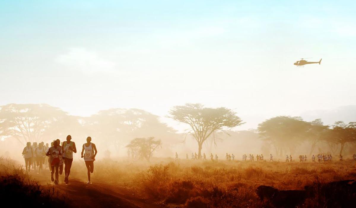 Safaricom marathon at sunset
